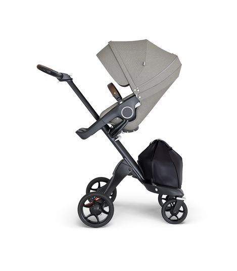 Stokke® Xplory® V6 Black Chassis w/brown leatherette image 1