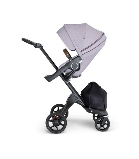 Stokke® Xplory® V6 Black Chassis w/brown leatherette image 2