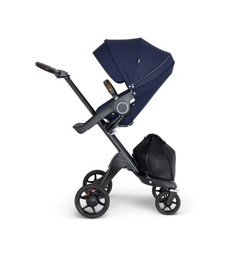 Stokke® Xplory® V6 Black Chassis w/brown leatherette image 0