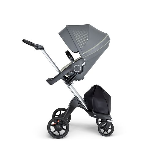 Stokke® Xplory® V6 Silver Chassis w/black leatherette image 3