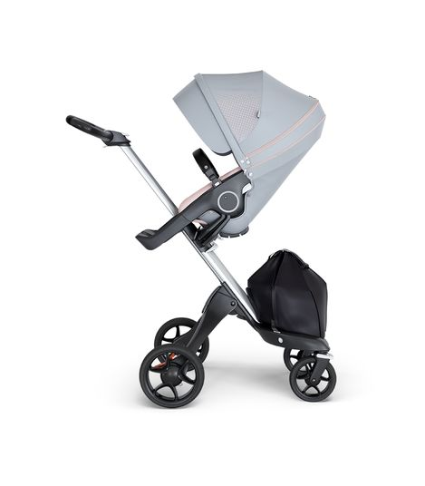 Stokke® Xplory® V6 Silver Chassis w/black leatherette image 1