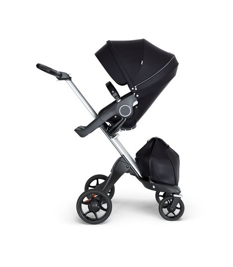 Stokke® Xplory® V6 Silver Chassis w/black leatherette image 6