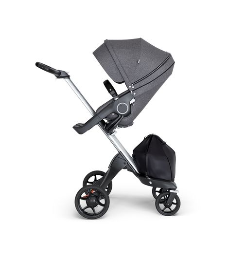 Stokke® Xplory® V6 Silver Chassis w/black leatherette image 4