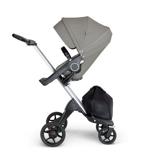 Stokke® Xplory® V6 Silver Chassis w/black leatherette image 9