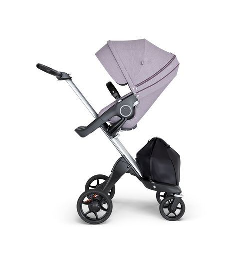Stokke® Xplory® V6 Silver Chassis w/black leatherette image 0