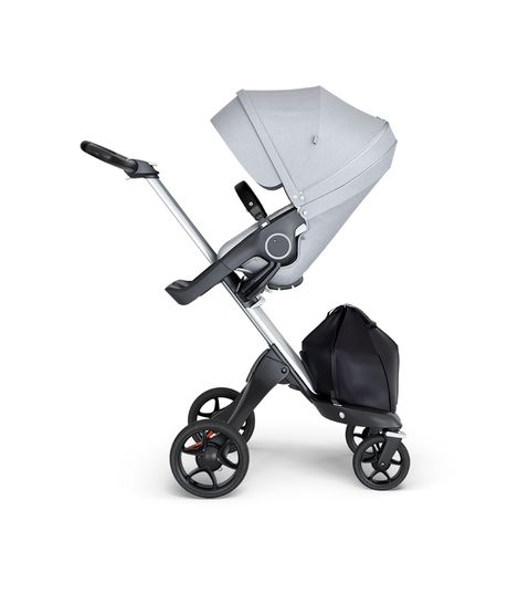 Stokke® Xplory® V6 Silver Chassis w/black leatherette image 2