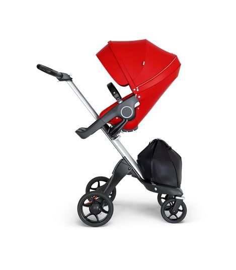 Stokke® Xplory® V6 Silver Chassis w/black leatherette image 7