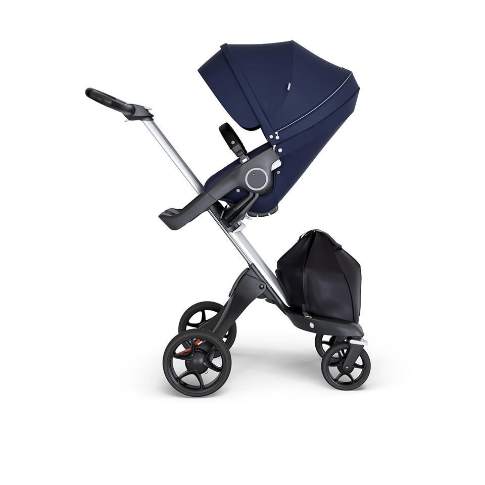 Stokke® Xplory® V6 Silver Chassis w/black leatherette image 5