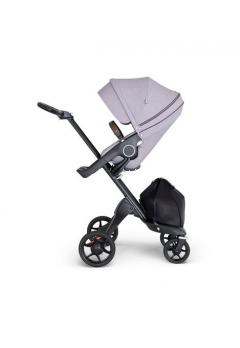 Stokke® Xplory® V6 Black Chassis w/brown leatherette image Brushed Lilac