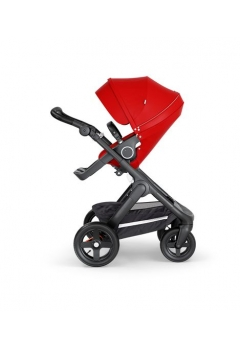 Stokke® Trailz™ Black με τροχούς παντός καιρού w/black leatherette image Red