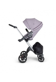Stokke® Xplory® V6 Silver Chassis w/black leatherette image Brushed Lilac