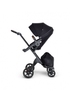 Stokke® Xplory® V6 Black Chassis w/brown leatherette image Black