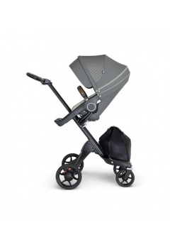 Stokke® Xplory® V6 Black Chassis w/brown leatherette image Athleisure Green