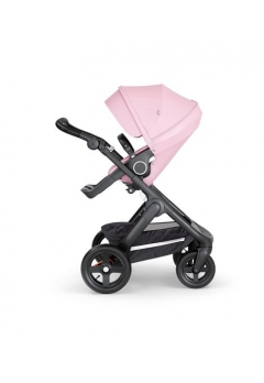 Stokke® Trailz™ Black με τροχούς παντός καιρού w/black leatherette image Lotus Pink