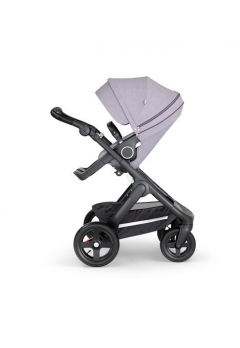 Stokke® Trailz™ Black με τροχούς παντός καιρού w/black leatherette image Brushed Lilac