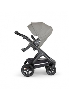 Stokke® Trailz™ Black με τροχούς παντός καιρού w/black leatherette image Brushed Grey