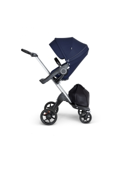 Stokke® Xplory® V6 Silver Chassis w/black leatherette image Deep Blue