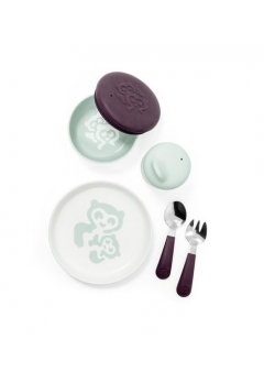 Stokke® Munch σετ φαγητού Everyday image Soft Mint