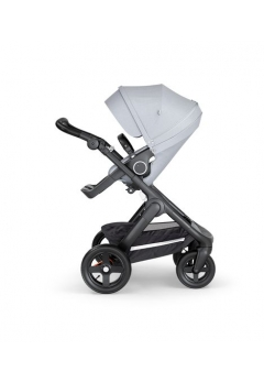 Stokke® Trailz™ Black με τροχούς παντός καιρού w/black leatherette image Grey Melange