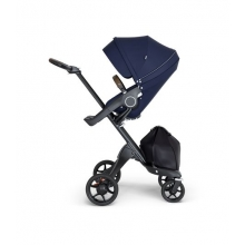 Stokke® Xplory® V6 Black Chassis w/brown leatherette