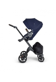 Stokke® Xplory® V6 Black Chassis w/brown leatherette image Deep Blue