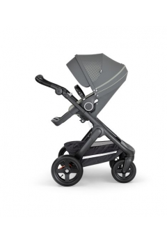 Stokke® Trailz™ Black με τροχούς παντός καιρού w/black leatherette image Athleisure Green