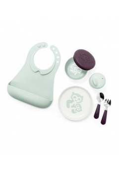 Stokke® Munch σετ φαγητού Complete image Soft Mint