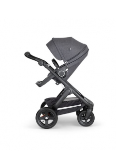 Stokke® Trailz™ Black με τροχούς παντός καιρού w/black leatherette image Black Melange
