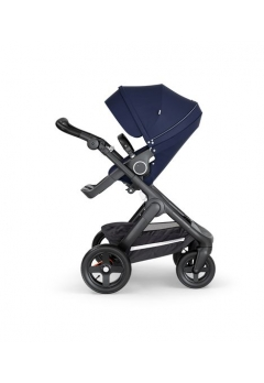 Stokke® Trailz™ Black με τροχούς παντός καιρού w/black leatherette image Deep Blue