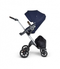 Stokke® Xplory® V6 Silver Chassis w/brown leatherette